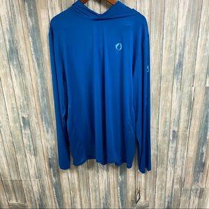 Men's Lond Sleeve Hooded Sun Shirt sz XL NEW